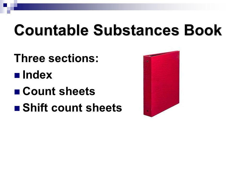 Countable Substances Book
