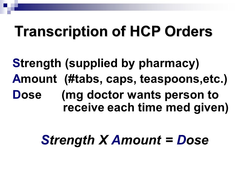 Transcription of HCP Orders