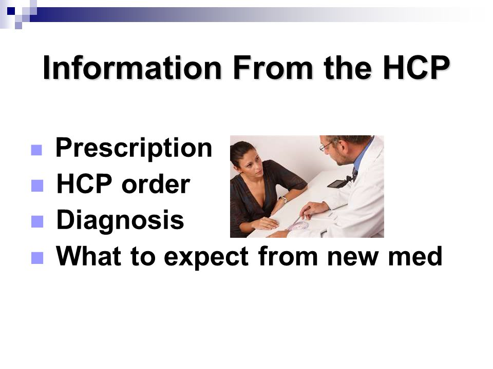 Information From the HCP