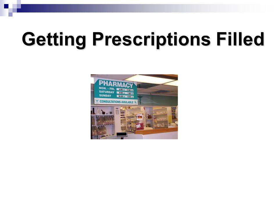 Getting Prescriptions Filled