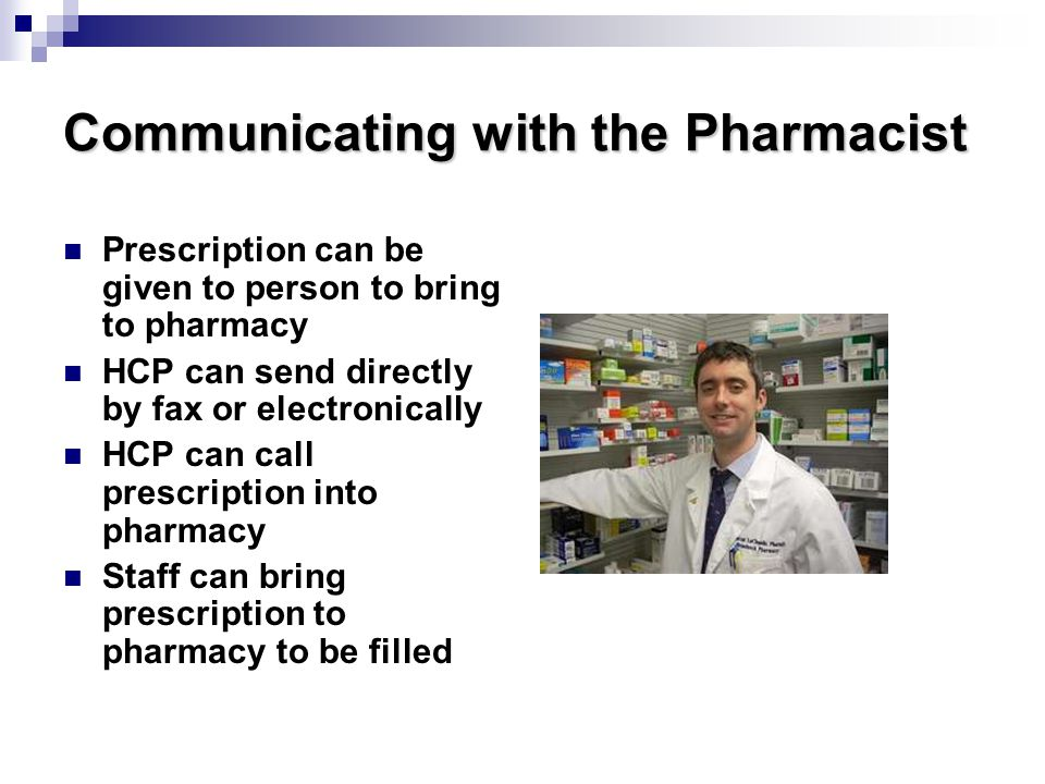 Communicating with the Pharmacist