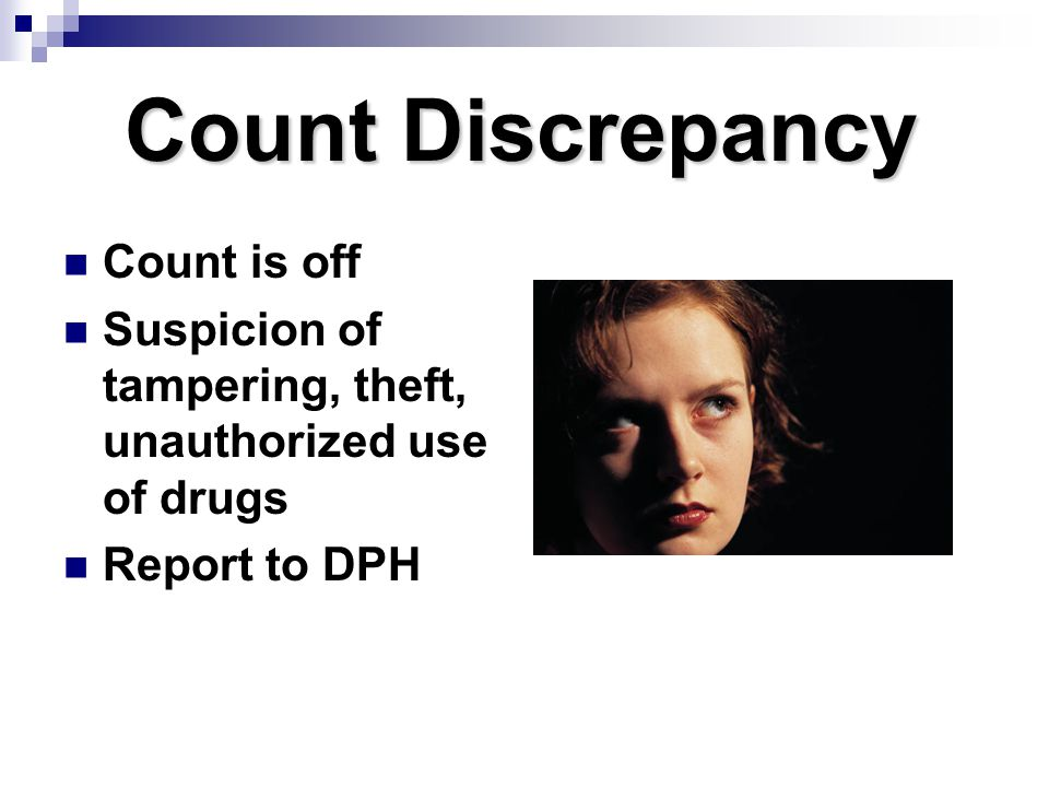 Count Discrepancy Count is off