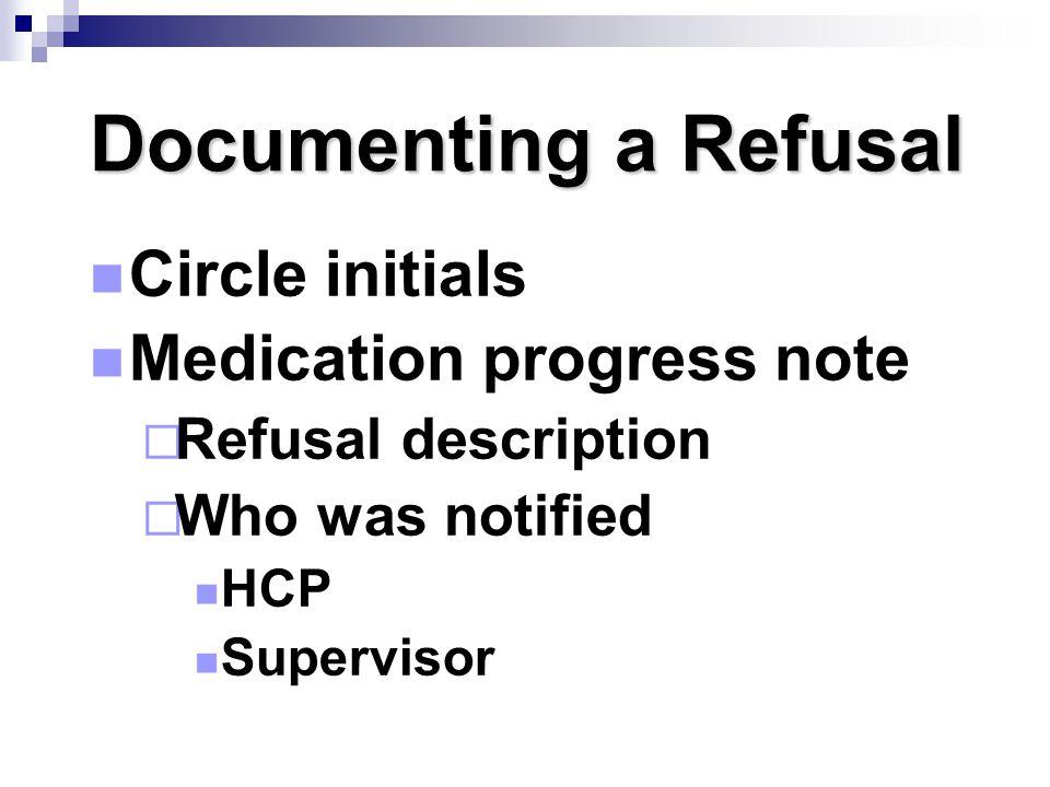 Medication progress note