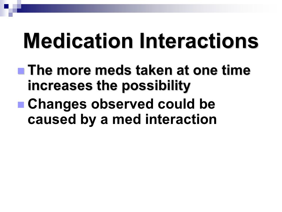 Medication Interactions