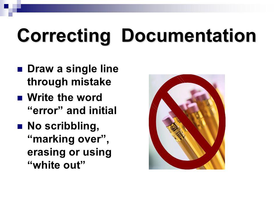 Correcting Documentation