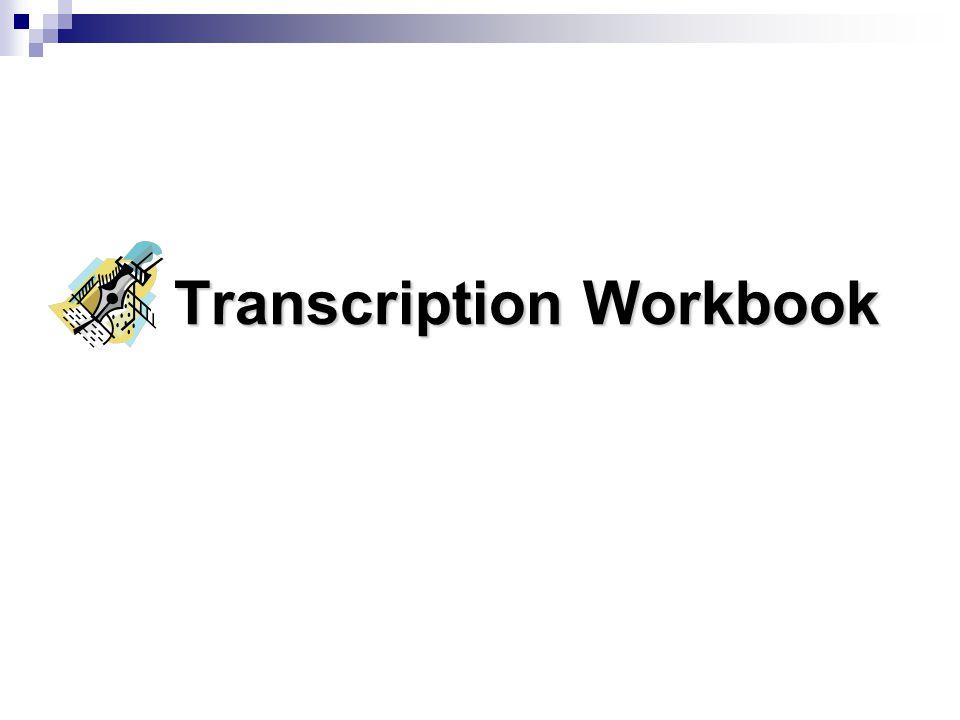 Transcription Workbook
