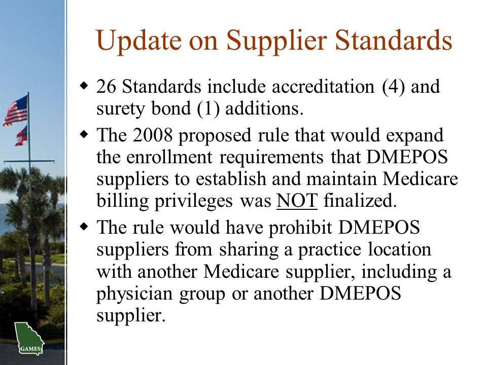 Update on Supplier Standards