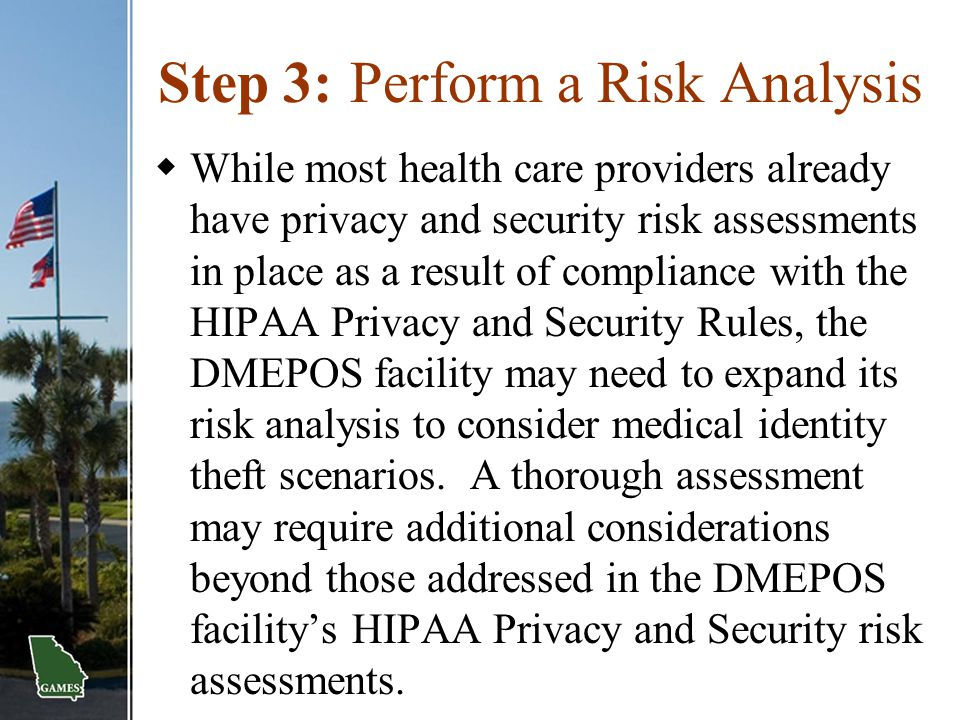 Step 3: Perform a Risk Analysis