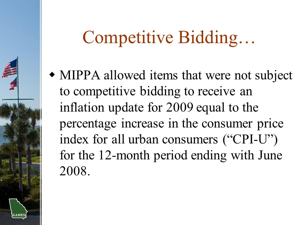 Competitive Bidding…