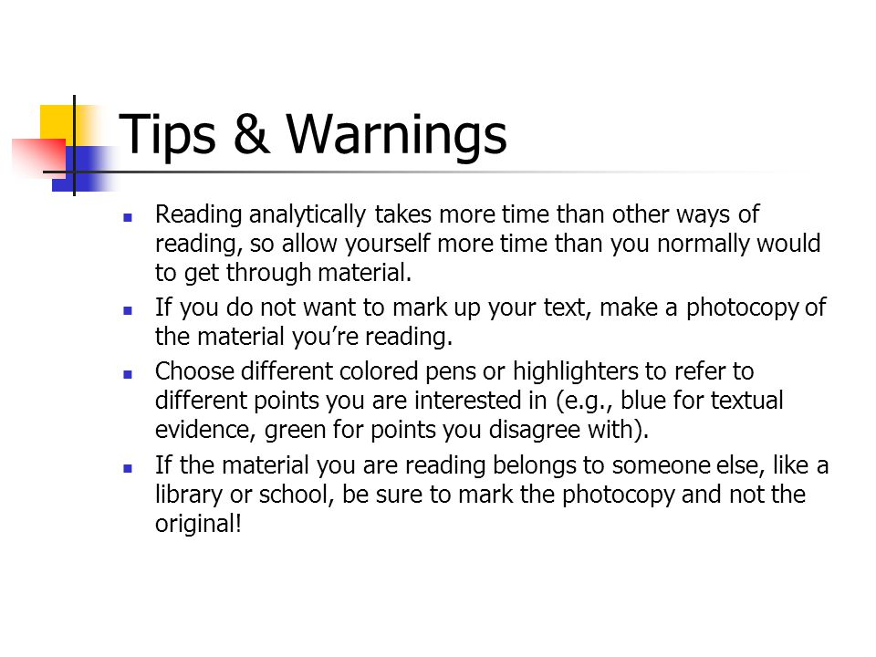 Tips & Warnings
