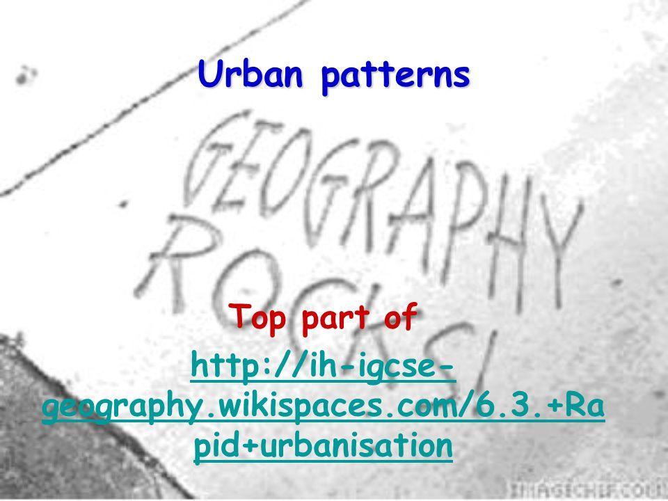 Urban patterns Top part of