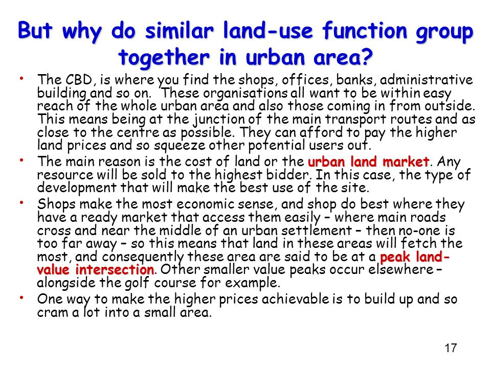 But why do similar land-use function group together in urban area