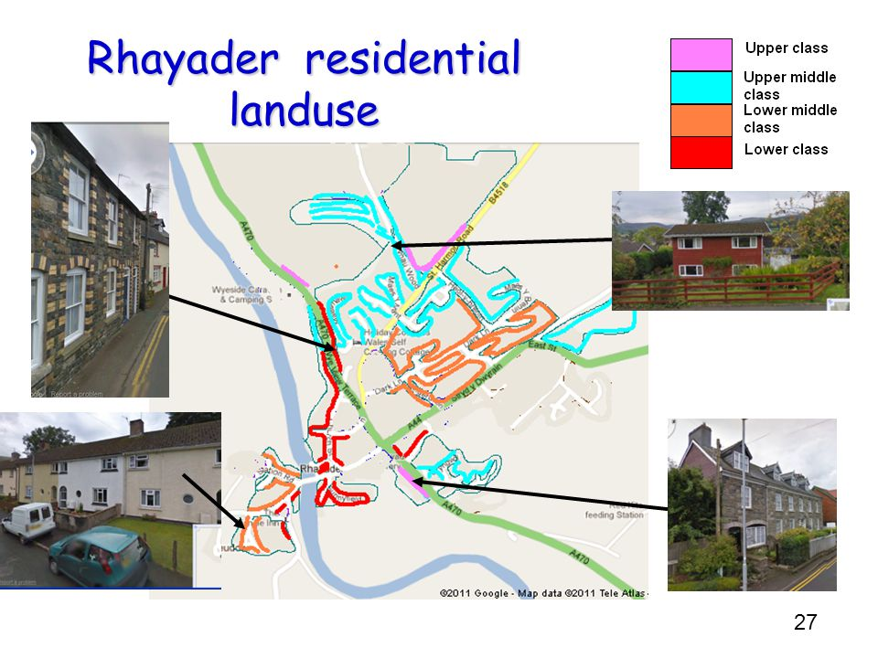 Rhayader residential landuse