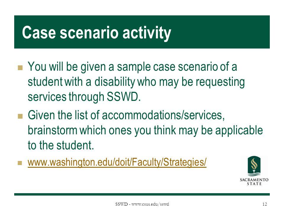 Case scenario activity