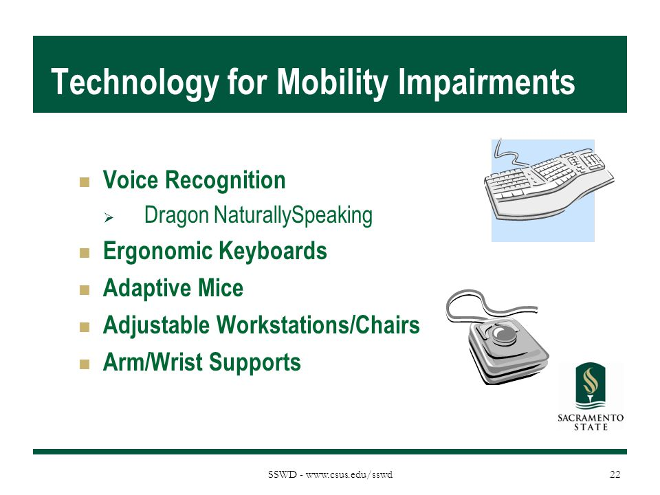 Technology for Mobility Impairments