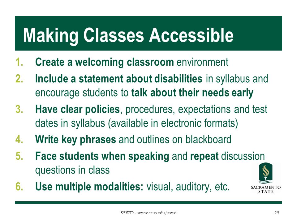 Making Classes Accessible
