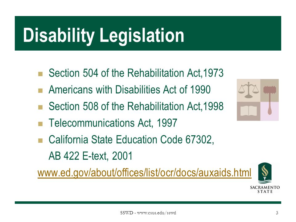 Disability Legislation