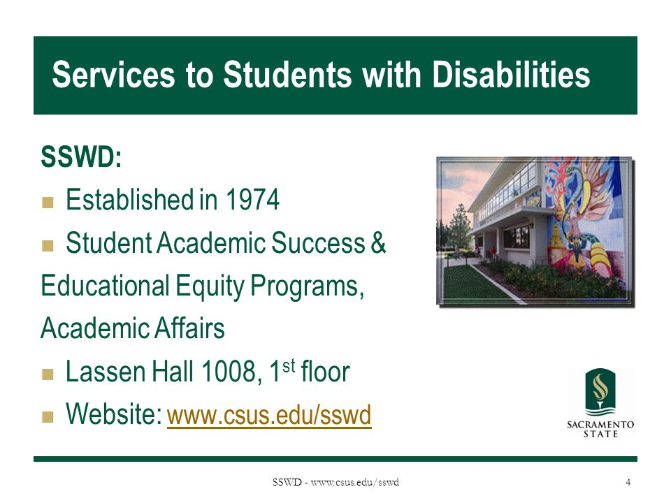 Services to Students with Disabilities