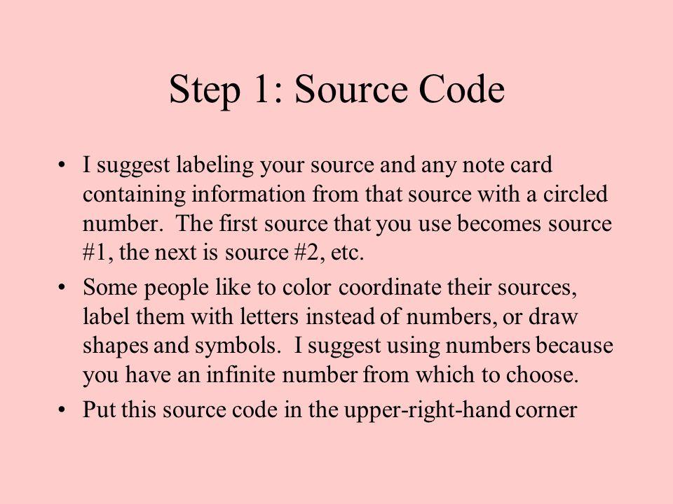 Step 1: Source Code