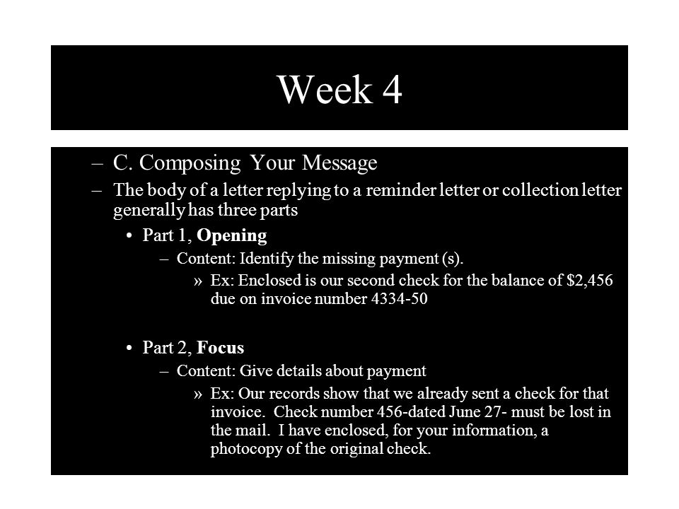 Week 4 C. Composing Your Message