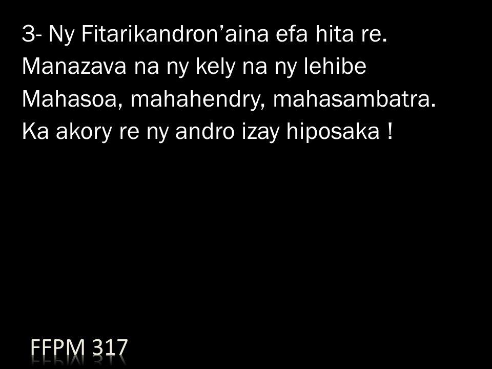 3- Ny Fitarikandron'aina efa hita re