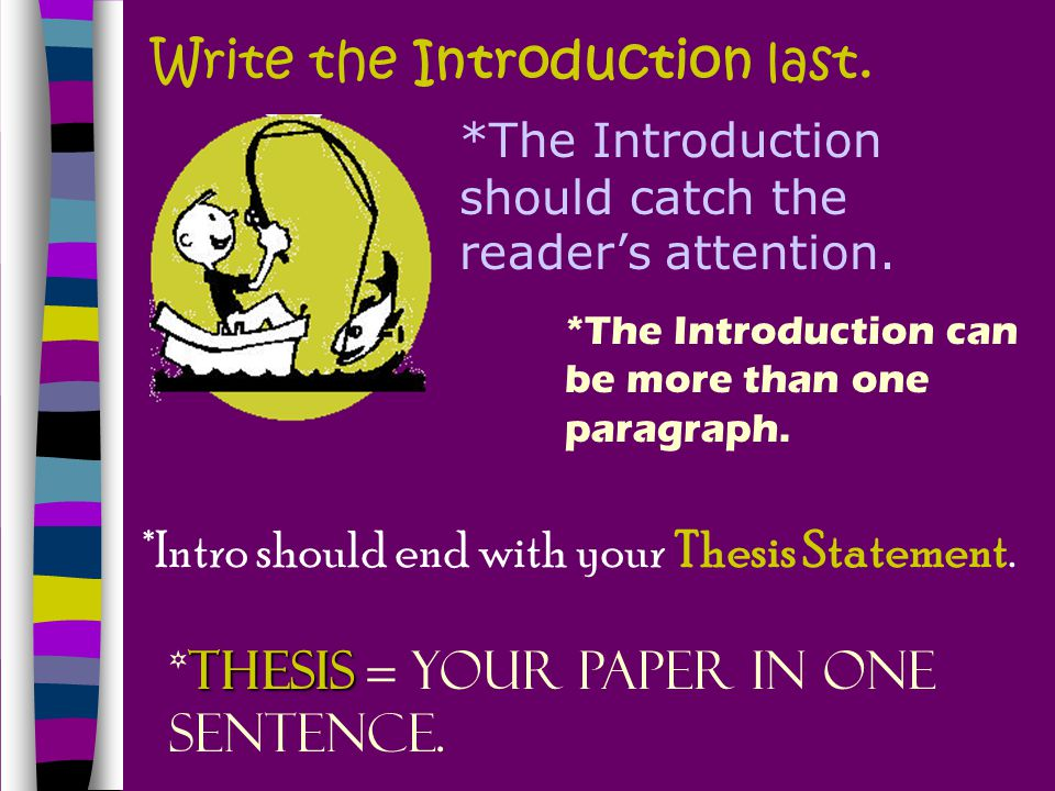 Write the Introduction last.