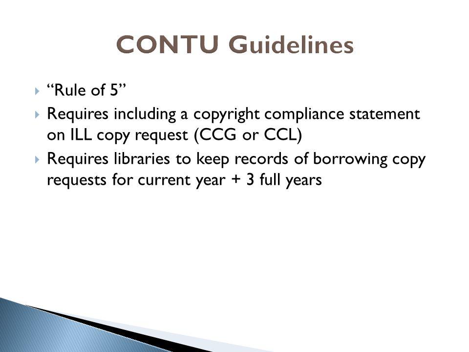CONTU Guidelines Rule of 5