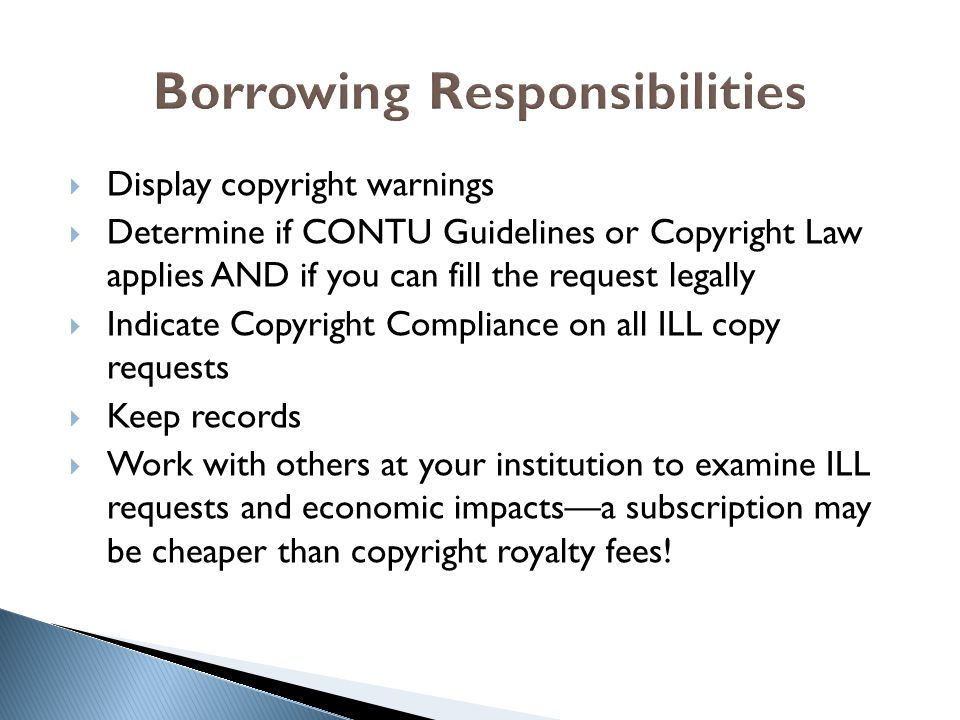 Borrowing Responsibilities