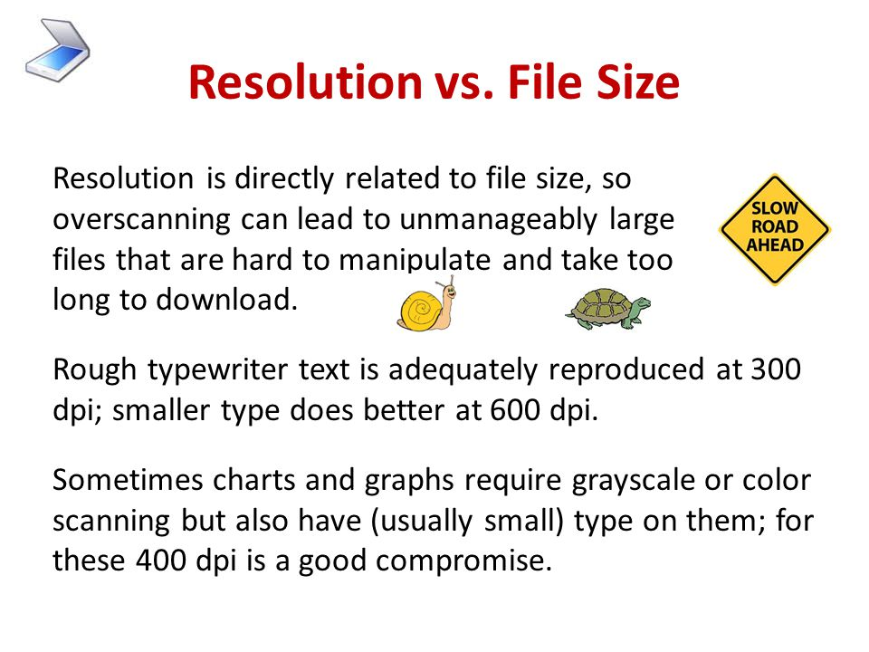 Resolution vs. File Size