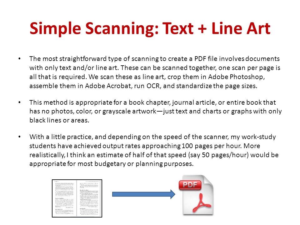 Simple Scanning: Text + Line Art