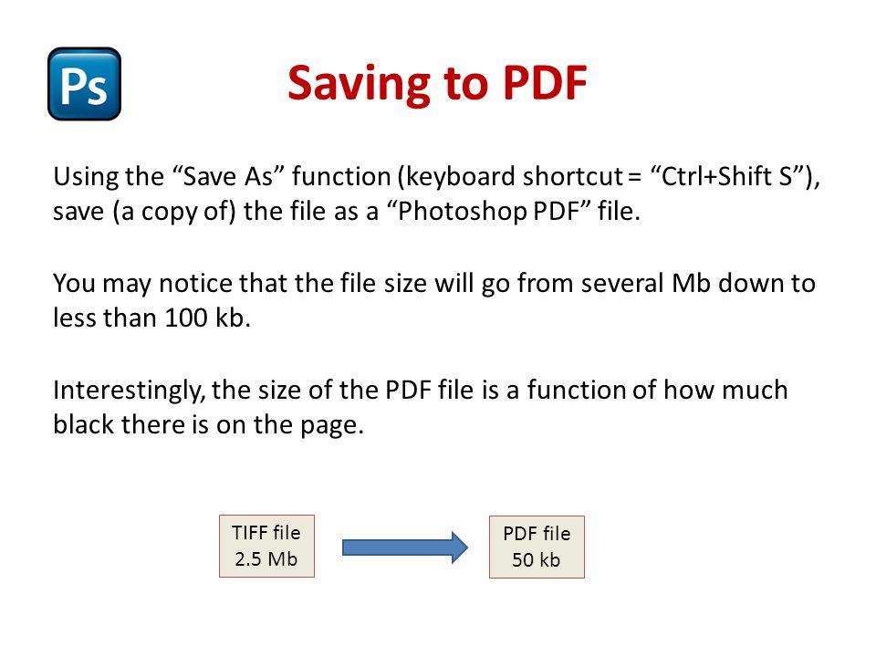 Saving to PDF