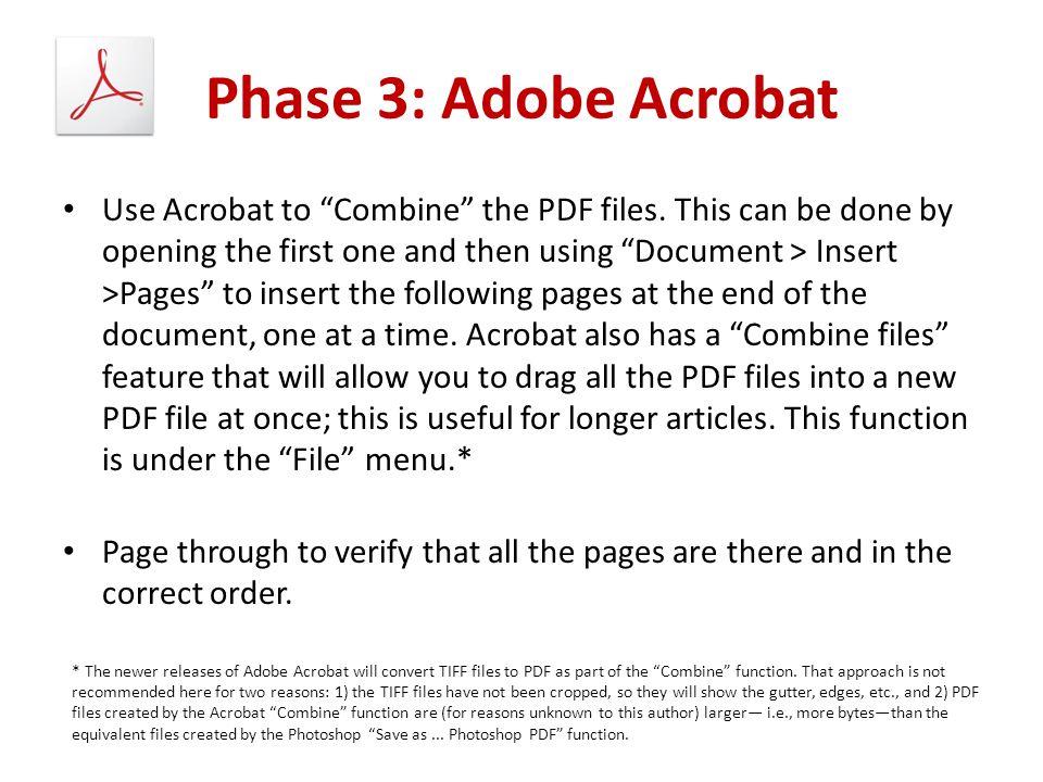 Phase 3: Adobe Acrobat