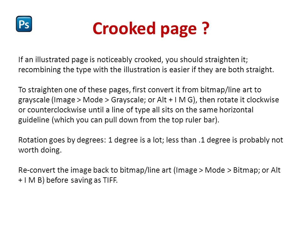 Crooked page