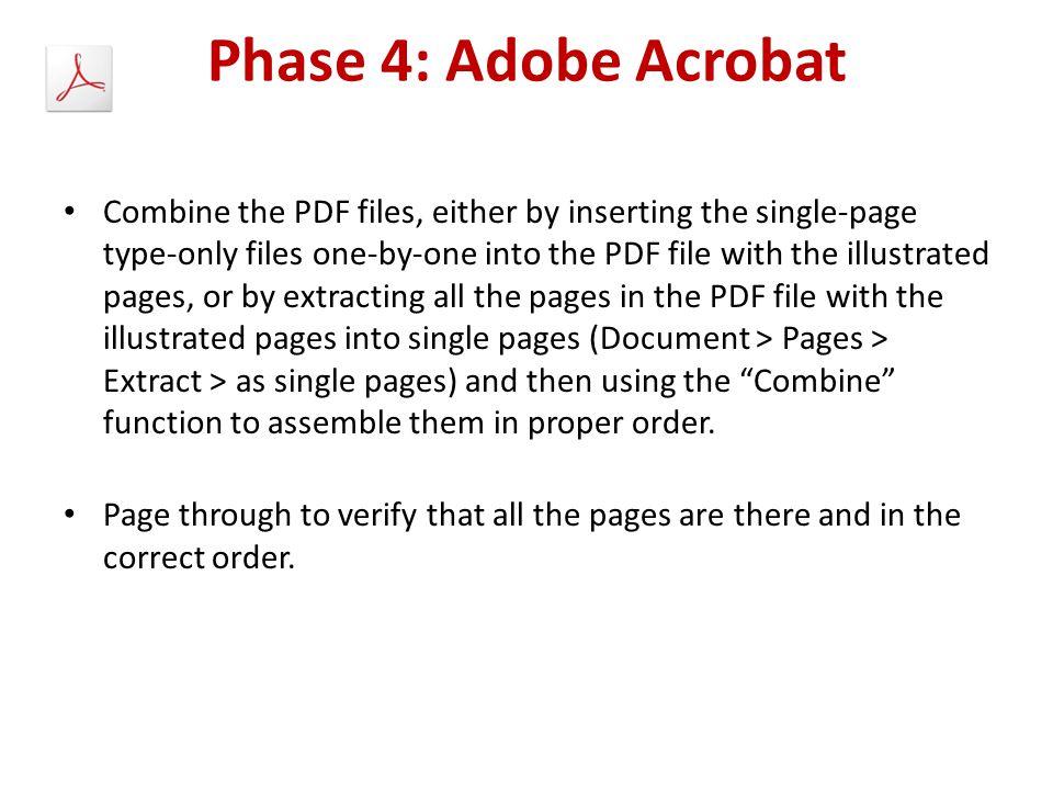 Phase 4: Adobe Acrobat