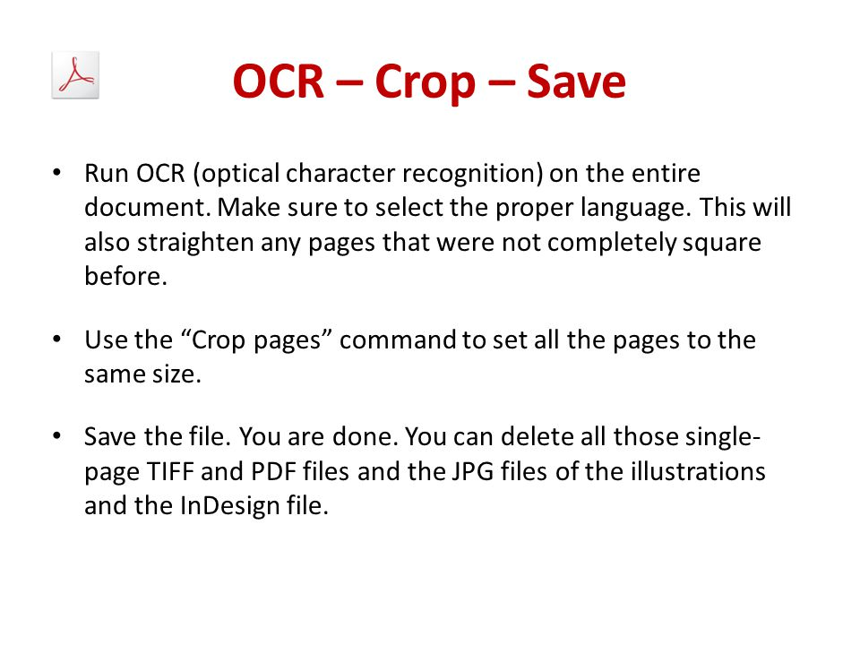 OCR – Crop – Save