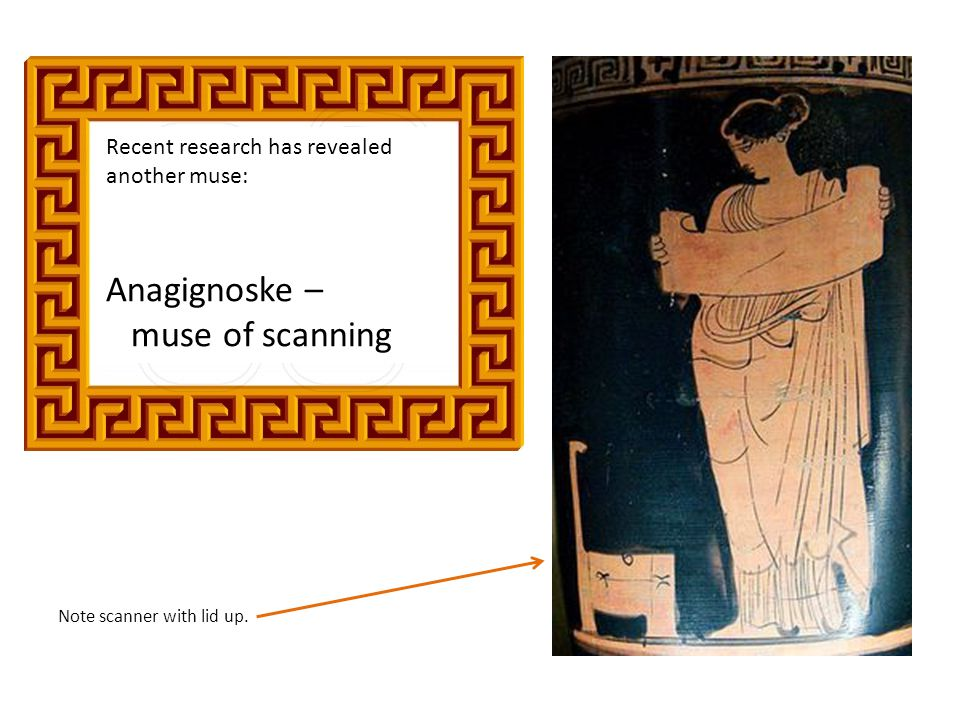 Anagignoske – muse of scanning