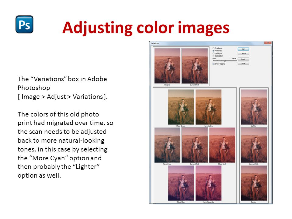 Adjusting color images
