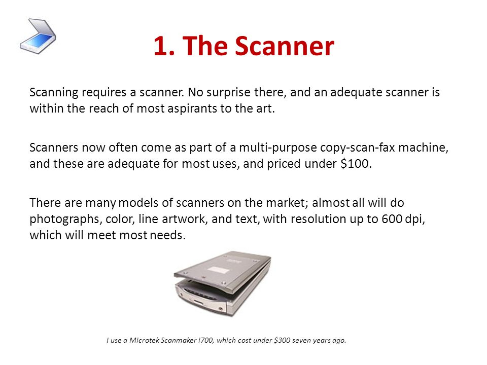 1. The Scanner