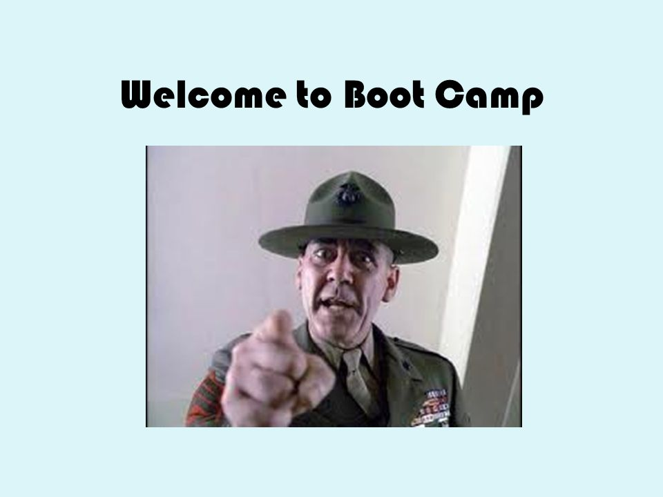 Welcome to Boot Camp