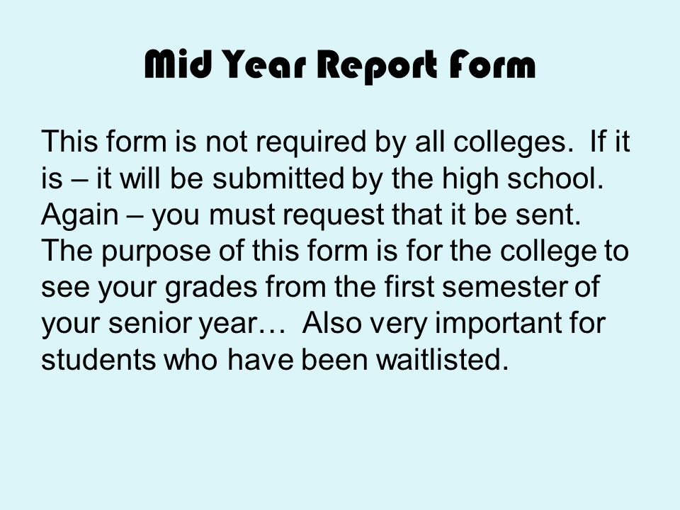 Mid Year Report Form