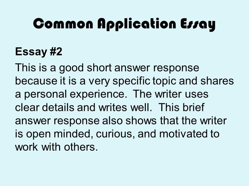 Common App Essay Work Experience