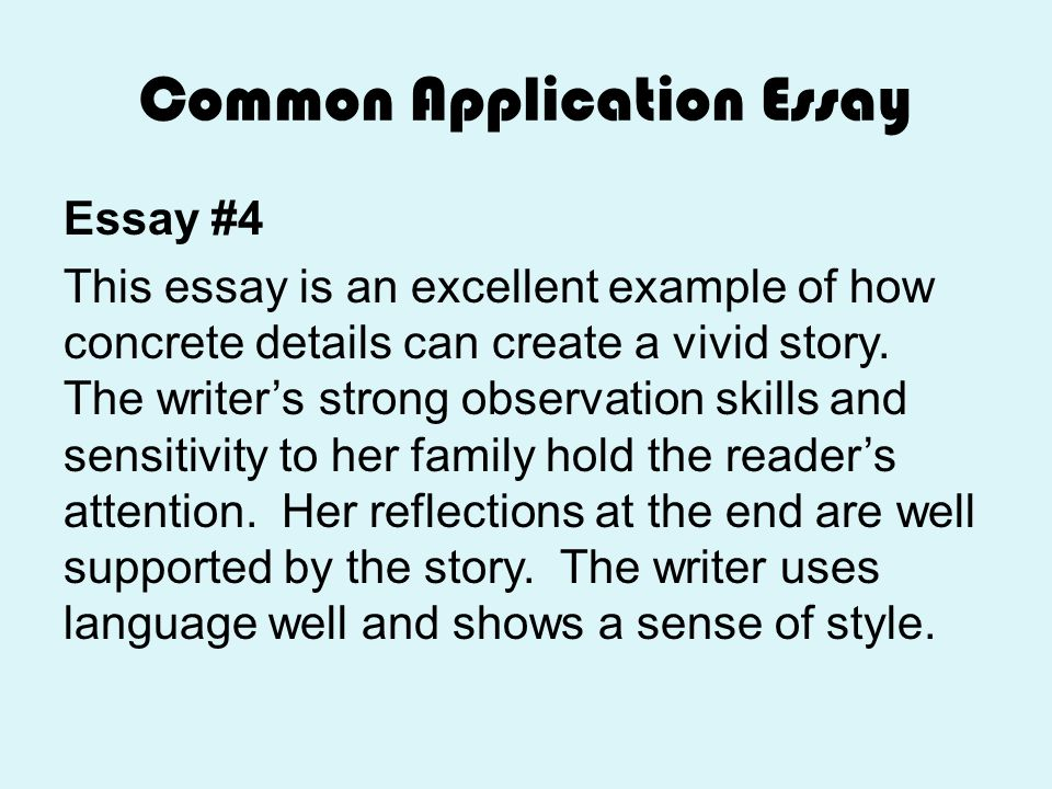 personal essay common app tips Overview of the Common App