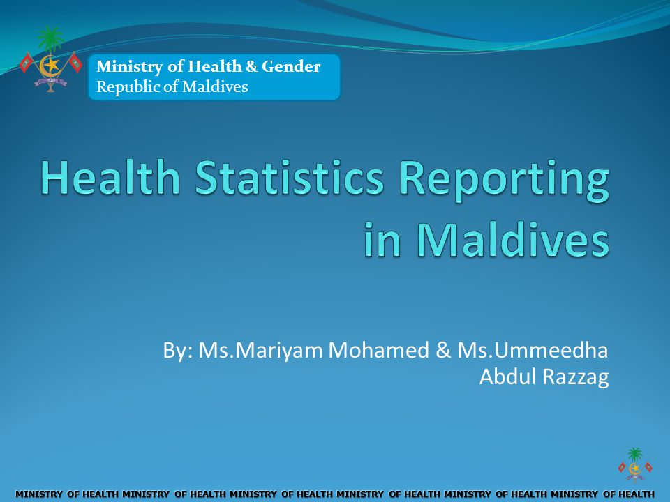 Health Statistics Reporting in Maldives