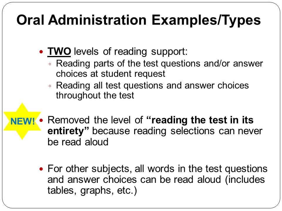 Oral Administration Examples/Types