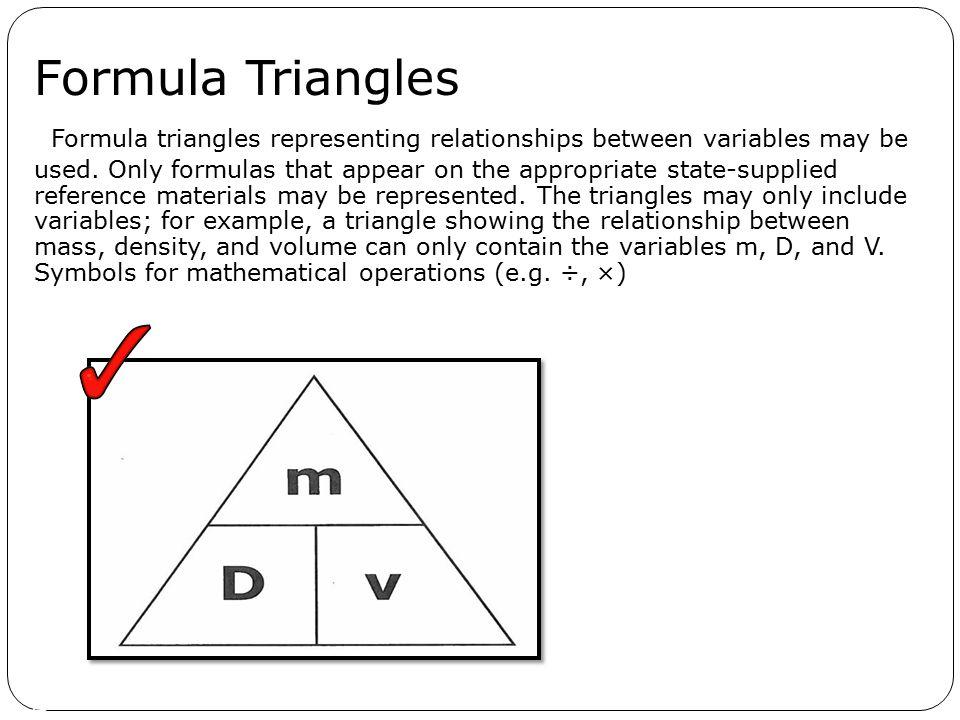 Formula Triangles