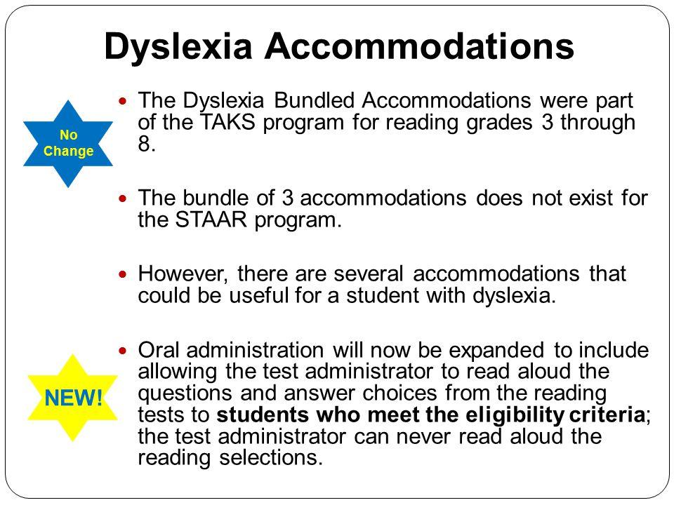 Dyslexia Accommodations
