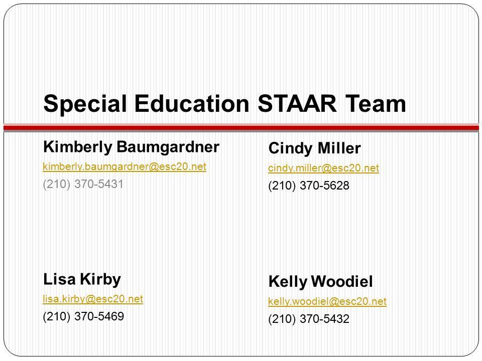 Special Education STAAR Team