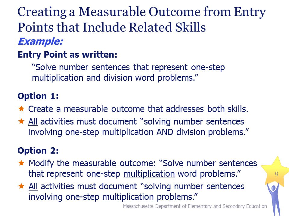 Creating a Measurable Outcome from Entry Points that Include Related Skills