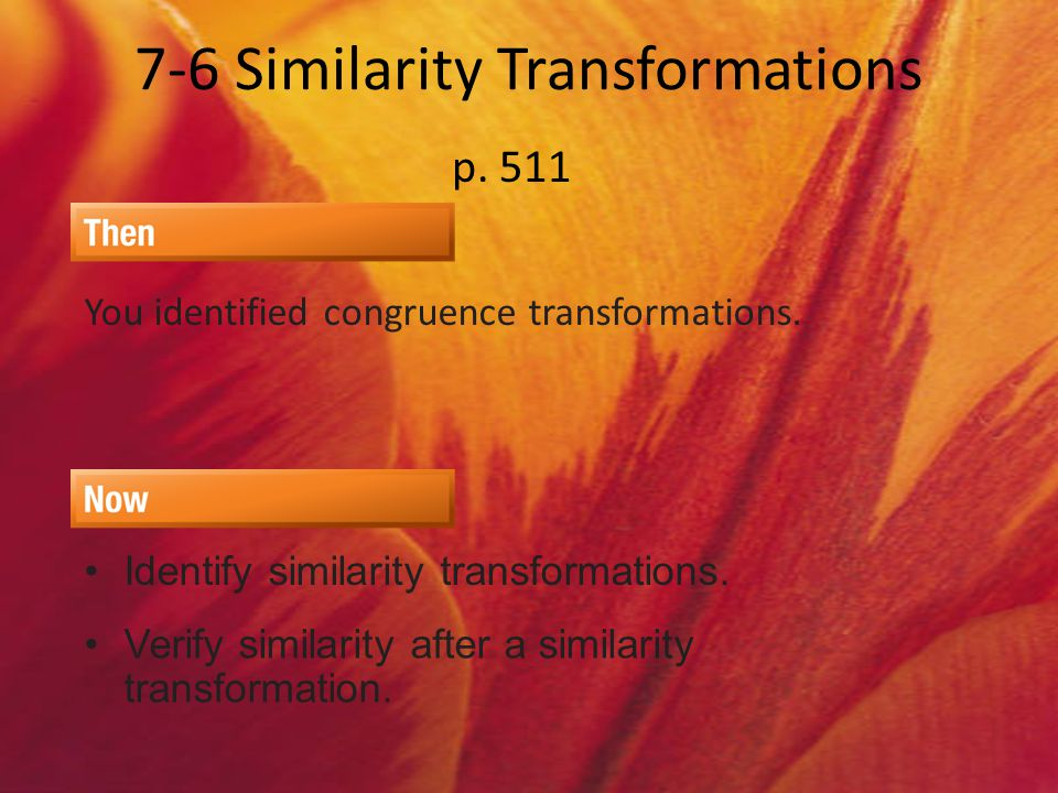 7-6 Similarity Transformations