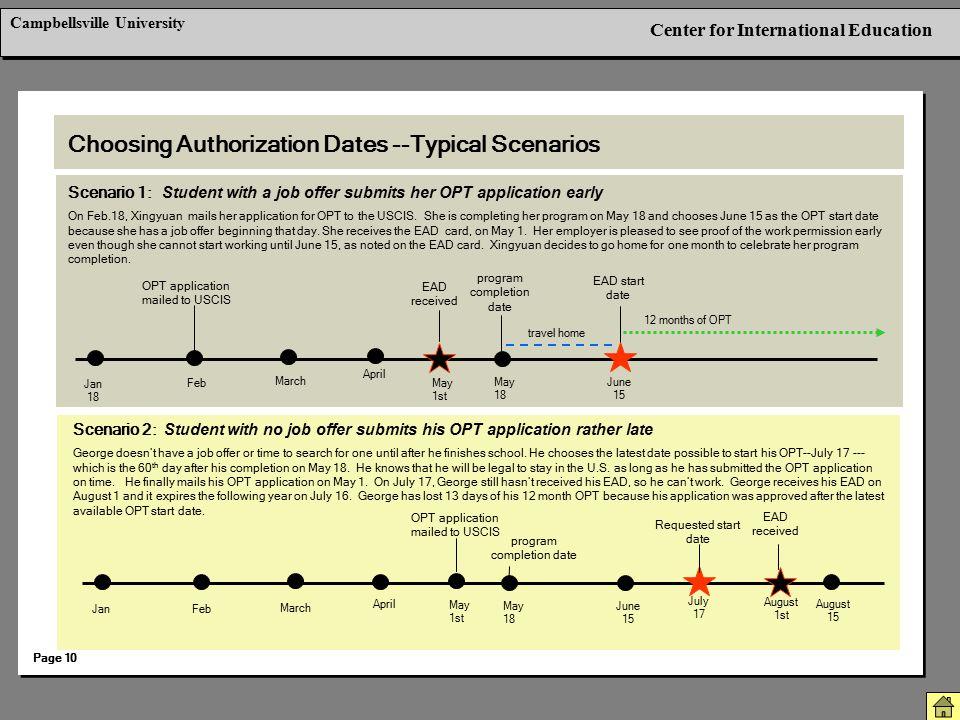 Choosing Authorization Dates --Typical Scenarios